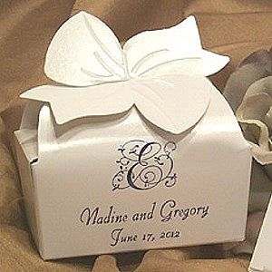 5 x 3 Custom Printed Cake Slice Favor Boxes Set of 50 Favors