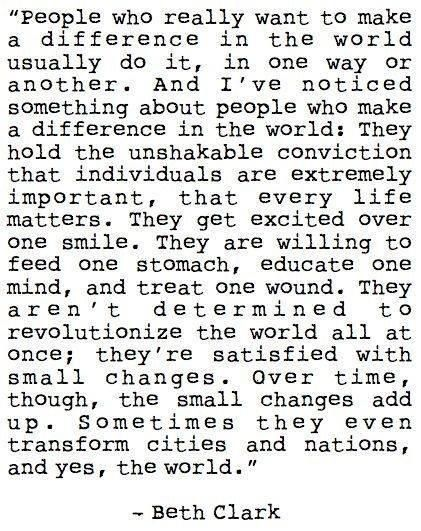 #powerful message about making a difference