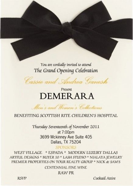 hospital opening invitation card