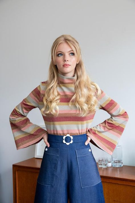 70s Outfits, Hippie Outfits, Vintage Outfits, Cute Outfits, Fashion Outfits, Seventies Outfits, Fashion Fashion, Sporty Fashion, Lolita Fashion
