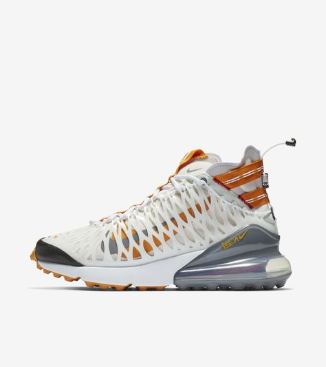 e5d47dfce3e3 Explore and buy the Nike Air Max 270 ISPA  White   Amber Rise   Ghost  Aqua . sport shoes sport shoes men sport shoes women sport shoes 2019   sport shoes ...