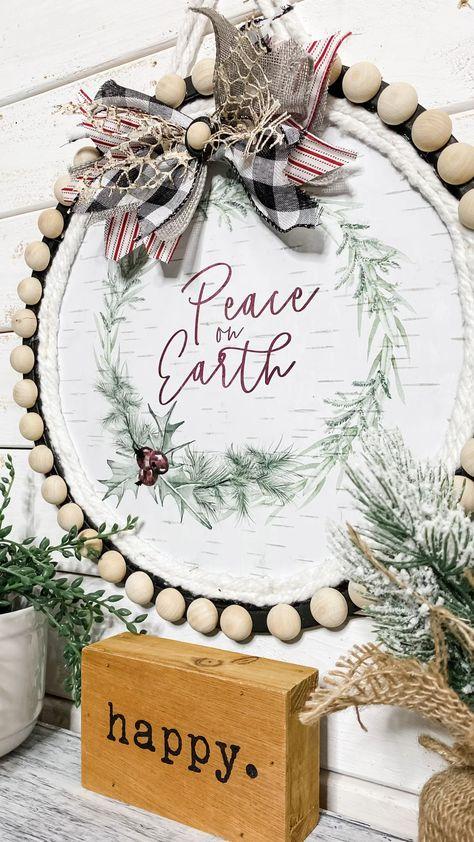 Dollar Tree Pizza Pan Christmas DIY