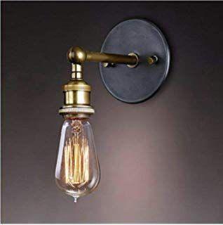 Lightess Apliques De Pared Lampara Vintage Lampara Industrial Estilo Retro Iluminacion Rustico Casquillo En 2020 Apliques De Pared Lampara De Pared Paredes Iluminadas