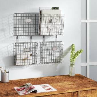 Broughton 10 25 X 36 X 3 5 5 Basket Hanging Organizer In 2020 Wall Storage Baskets On Wall Wall Hanging Storage