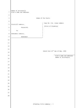 Pleading Paper Template Word Ashleeclubtk - Legal pleading template