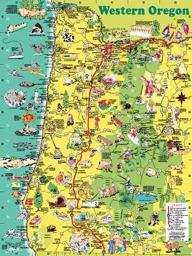 Image result for oregon coast map Nessie The Navion Camper Van
