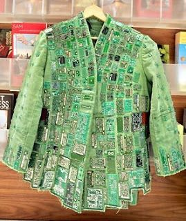 Prospero---This Green Power coat made of recycled transistors from computer memory boards will be among the designs at Trash Fashion Bash, a fundraiser demonstrating the glut of the holiday season.