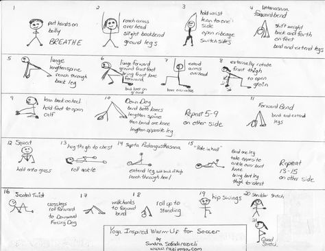 Yoga Sequence For Soccer Players Soccer Training Soccer Players Warm Up Yoga