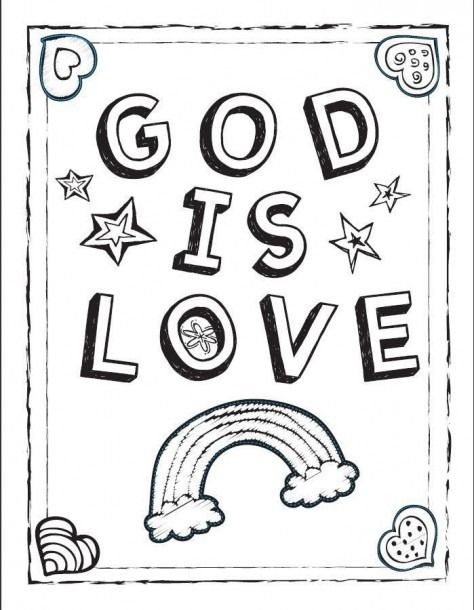 God Loves You Coloring Pages Coloring Coloringpages With Images