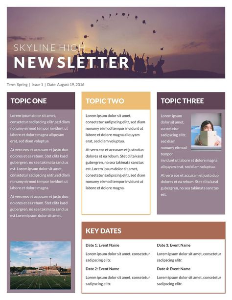 Free Newsletter Templates & Examples