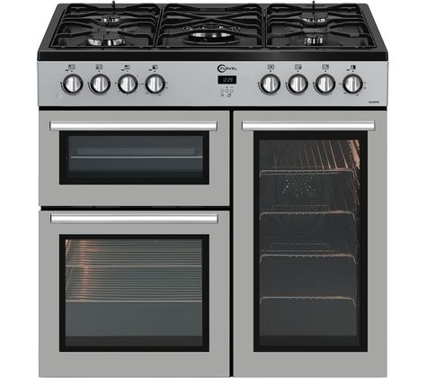 Currys duel fuel range double oven and separate grill. 5 ring gas hob.