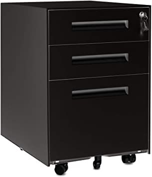 Ssline Mobile File Cabinet With 3 Drawers Home Office Rolling Metal Filing Cabinet Under Desk Lockable In 2020 Filing Cabinet Metal Filing Cabinet Mobile File Cabinet