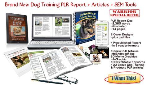 Dog Training PLR Report + Articles + Graphics +Marketingtools MegaPack