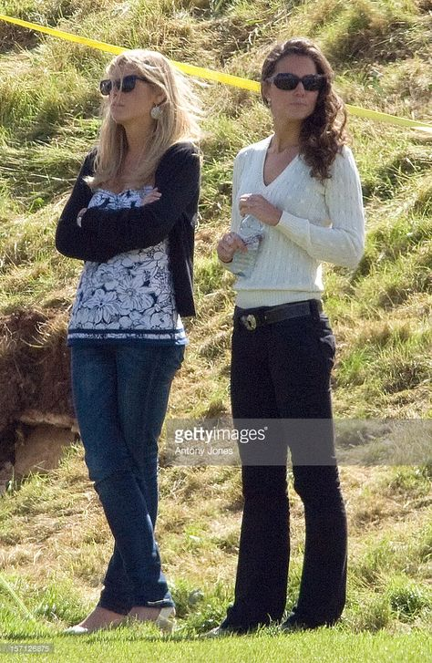 Chelsy Davy And Kate Middleton Spotted At Beaufort Polo Club, Gloucestershire, Whilst Watching Prince William And Prince Harry In A Charity Polo Match..