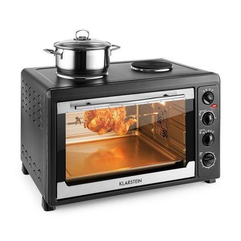 Klarstein Mini Backofen 60 Liter Grillfunktion 2 Herdplatten Kochplatte Masterchef 60 Online Kaufen Backofen