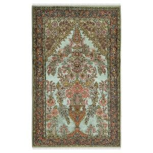 Floral Guldasta Woolen Silk Area Rug House Houseideas Decor Homedecor Handmade Savingmoney Coupon Blog Carpet Educatio Silk Area Rugs Rugs Area Rugs