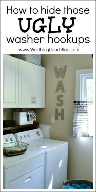 An Easy DIY To Hide Your Ugly Washer Hookups Washing machine