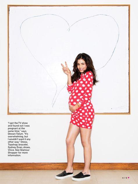 Pregnant Jenna Dewan-Tatum for Glamour magazine