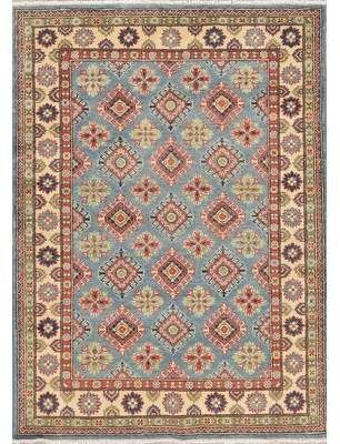 World Menagerie One Of A Kind Apaui Hand Knotted 4 1 X 5 8 Wool Blue Beige Area Rug Beige Area Rugs Area Rugs Blue Area
