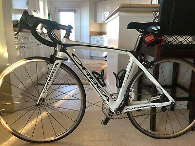 Sponsored Ebay Gently Used White With Black Detailing Xs Orbea Orca With Campqgnolo Record Womens Bike Road Racing Bike Racing Bikes