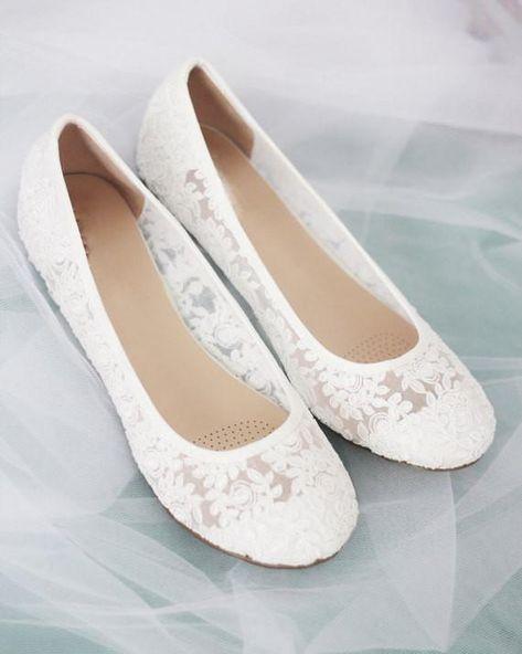 Best bridal shoes - White Lace Bridal Shoes Color White Size Various – Best bridal shoes Lace Bridal Shoes, Best Bridal Shoes, Bride Shoes, White Lace Flats, Lace Ballet Flats, White Flat Wedding Shoes, Comfy Wedding Shoes, Casual Wedding, Lace