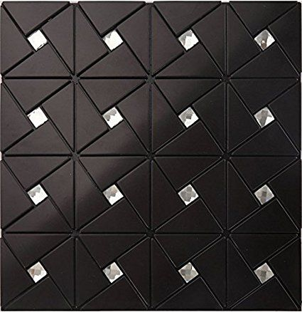 Home Wall Decorative Building Material Joint Self Adhesive Aluminium Plastic Panel Tiles 13 Facets Diam Mosaic Tile Stickers Metal Mosaic Tiles Wall Cladding