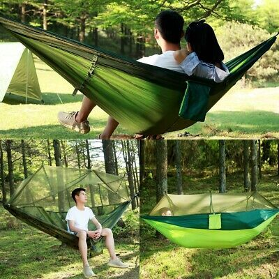 Details About Camping Hammock Set All Inclusive Double Hammock Bug Net Tarp Camping Hiking Fiesta