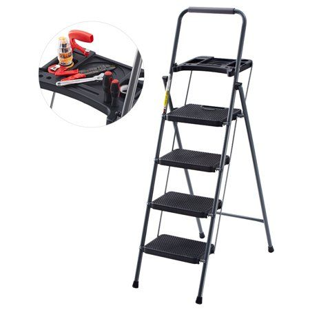 2 3 4 Step Ladder Safety Non Slip Mat Tread Foldable Kitchen By Day Plus A++++++