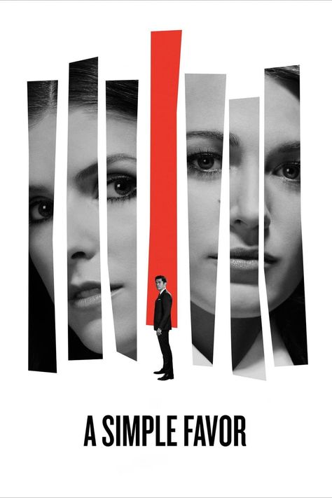"""A Simple Favor Anna Kendrick Blake Lively Movie Art Poster 13x20/"""" 24x36/"""" 27x40/"""""""