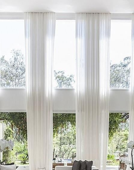 2 Extra Long Curtains For High Ceiling Sheer Voile Drapes 15