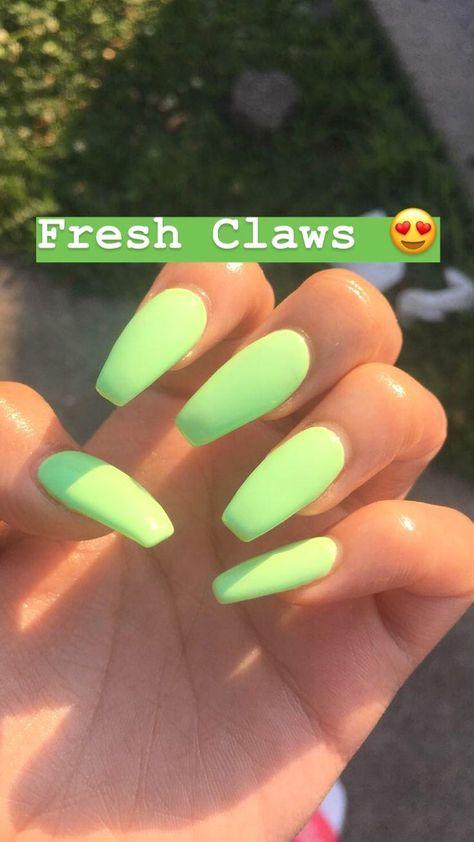 Nails, Claws, Grabber, Dick Grabbers, Mint, Green, Fresh, Acrylic, Beautiful ... - #coffinnails