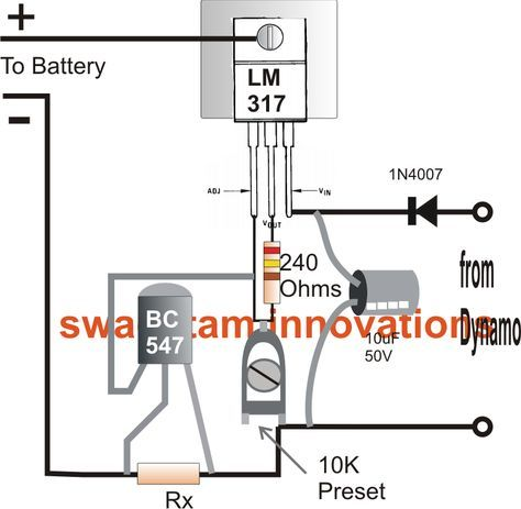 Bicycle Dynamo Battery Charger Circuit Battery Charger Circuit Battery Charger Circuit Projects