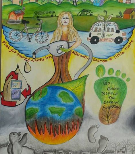 Related Image Save Fuel Save Energy Paintings School Board Decoration