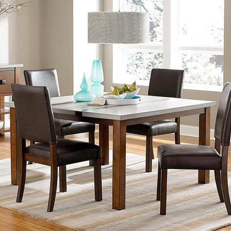 Cascade Dining Table in Nutmeg and Cement