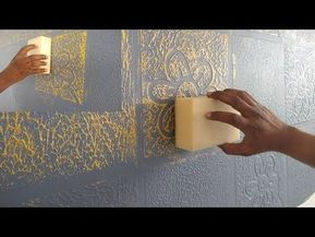How To Make A Texture Design On Wall Putty Youtube Wall Texture Design Painting Textured Walls Wall Paint Designs