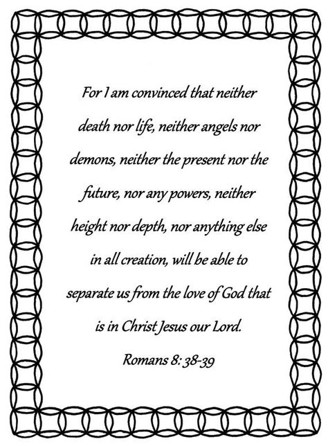 For I Am Convinced Romans 8 38 39 Bible Verse Coloring Page