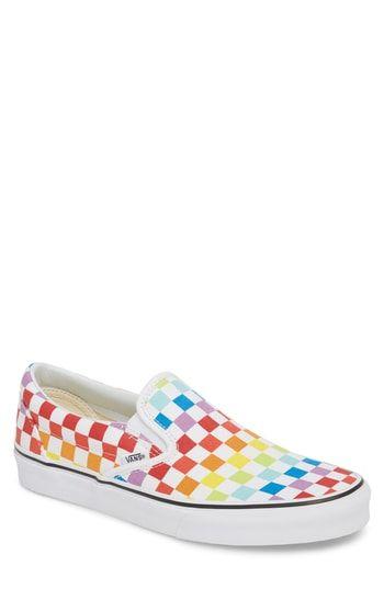 Vans Classic Slip-on In Rainbow/ True