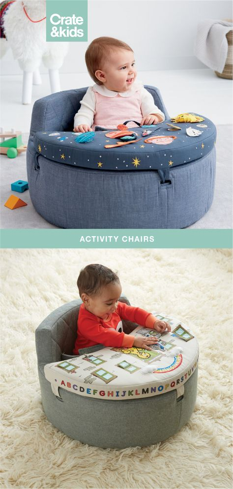 With a unique and patent-pending design, our activity chairs are the baby toys you never knew you needed. Perfect for any nursery or playroom, they're soft, sturdy, and filled with sensory activities. Discover the best baby toys for your youngsters Baby Toys, Kids Toys, Baby Life Hacks, Baby Gadgets, Baby Necessities, Everything Baby, Baby Needs, Baby Furniture, Cool Baby Stuff