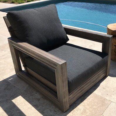 Brayden Studio Constance Teak Outdoor Patio Furniture Club Chair