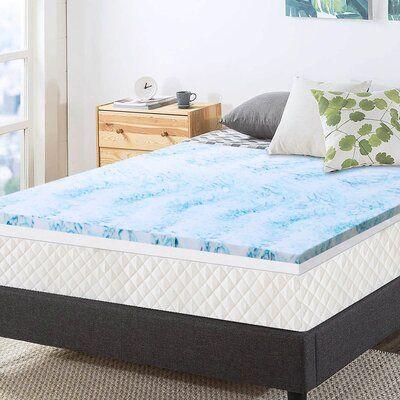 Alwyn Home Adriana 4 Gel Memory Foam Mattress Topper Bed Size