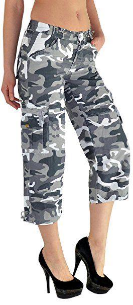 ba512042cb by-tex Caprihose Damen Capri Hose Damen Bermuda Shorts kurze Jeans Hose  Capri - Sommer
