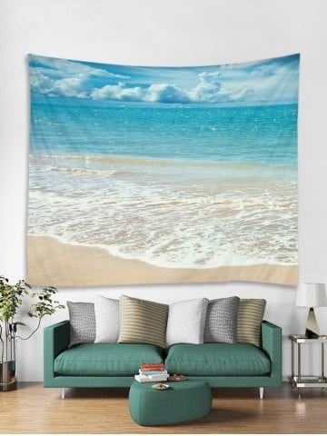 Beach Background Print Wall Hanging Tapestry Art Tapestry Wall Art Hanging Wall Decor Room Tapestry