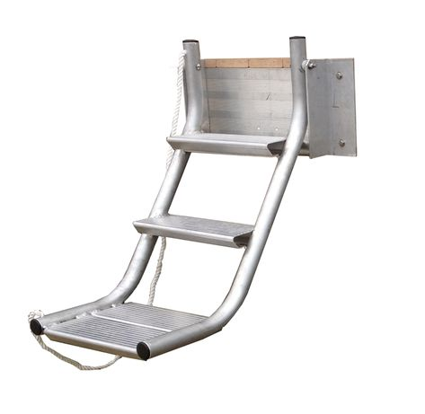 Retractable Dog Ladder from Wahoo Docks, available from NGBL North Georgia Boat Lift & Marine Construction!