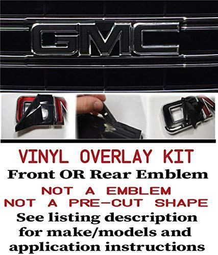 651-4 GMC FRONT OR REAR Emblem Kit Yukon 1500 Sierra Denali Terrain X Sheet