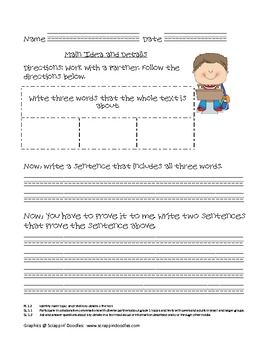 This packet contains graphic organizers to use with any nonfiction book. It covers all of the Common Core State Standards for informational tet. It also includes many of the speaking and listening standards.