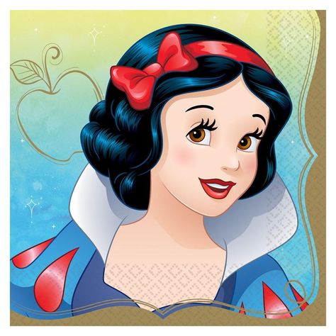 Disney Princess Once Upon A Time Lunch Napkin Snow White 16ct