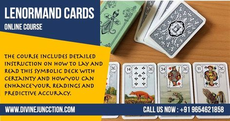 Lenormand Cards Online Course : The Course Includes Detailed Instruction On How To Lay And Read This Symbolic Deck With Certainty And How You Can Enhance Your Readings And Predictive Accuracy. Call us : +91 9654621858 |  www.divinejuncction.com  #cutelittlelenormand #lenormandcards #tarotreadersofinstagram #tarot #lenormandcards #lenormanddeck #lenormandreadersofinstagram #lenormandreading  #dailyhoroscope #generalreading  #horoscope #instadaily #love #instagood #lenormand #lenormandreader #taro