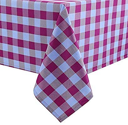 Amazon Com Hiasan 60 X 120 Inch Checkered Tablecloth Rectangle Stain Resistant Spillproof And Wash Checkered Tablecloth Picnic Table Covers Outdoor Picnics