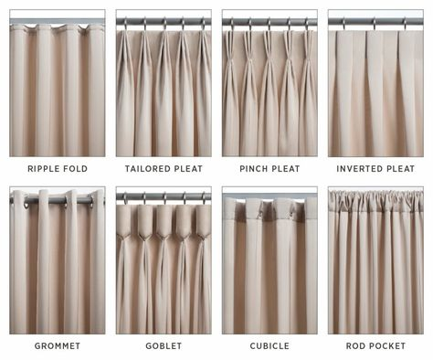 The 8 most common types of drapery