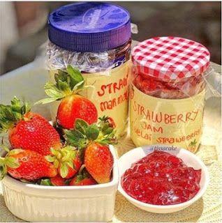 Selai Strawberry Stroberi Buah Resep